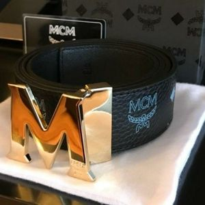 Accessories - Black MCM Belt